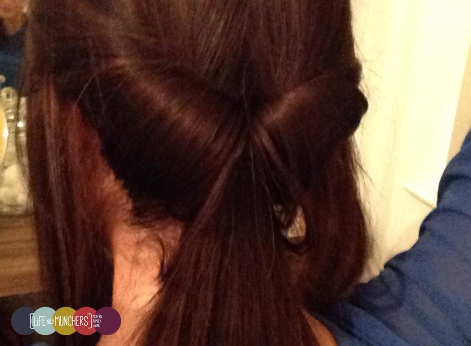 Easy updo for long hair