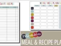 Weekly Meal Planner & Recipe Planner