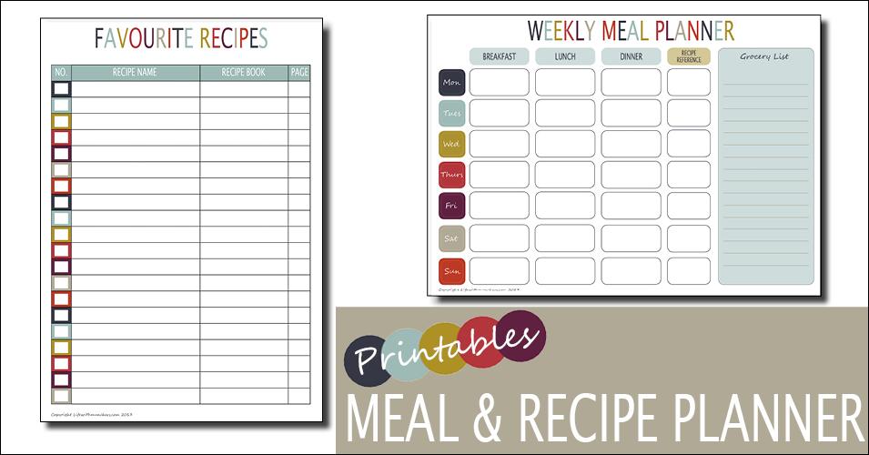 Weekly Meal Planner & Recipe Planner