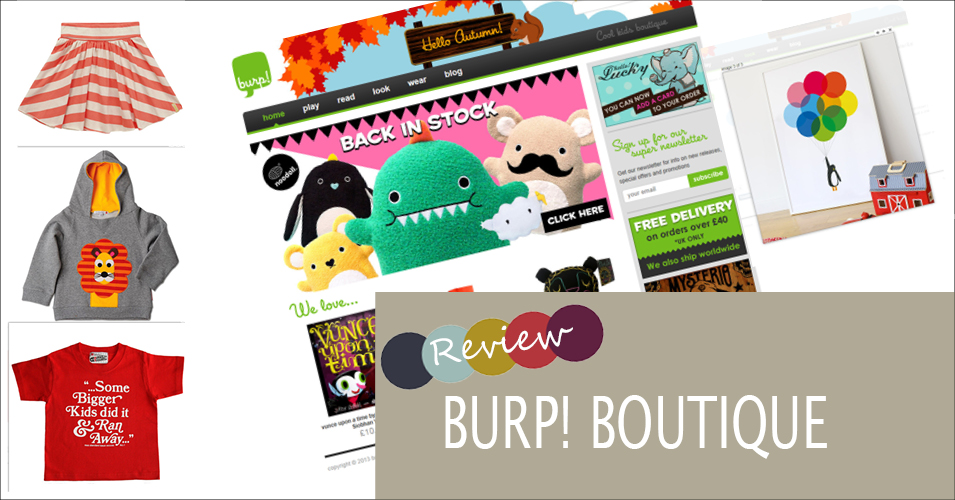 Review: burp! boutique & Offer Code