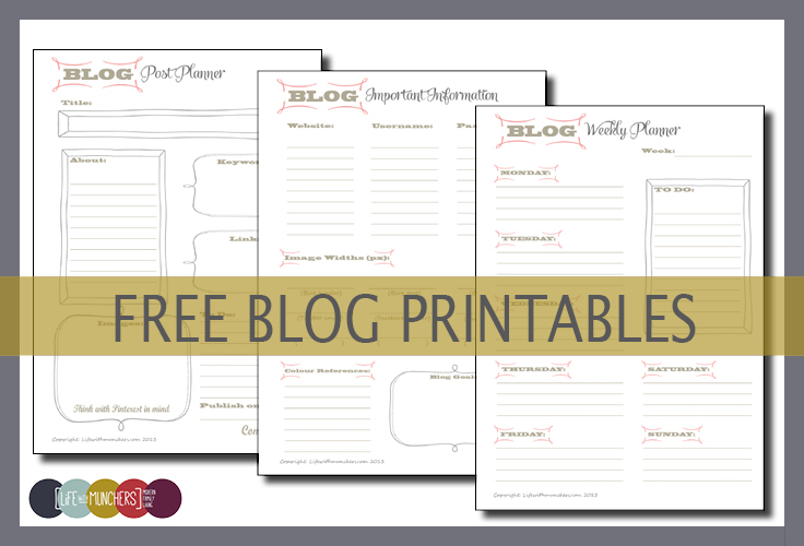 Printable Blog Planners Organise Your Blog Family