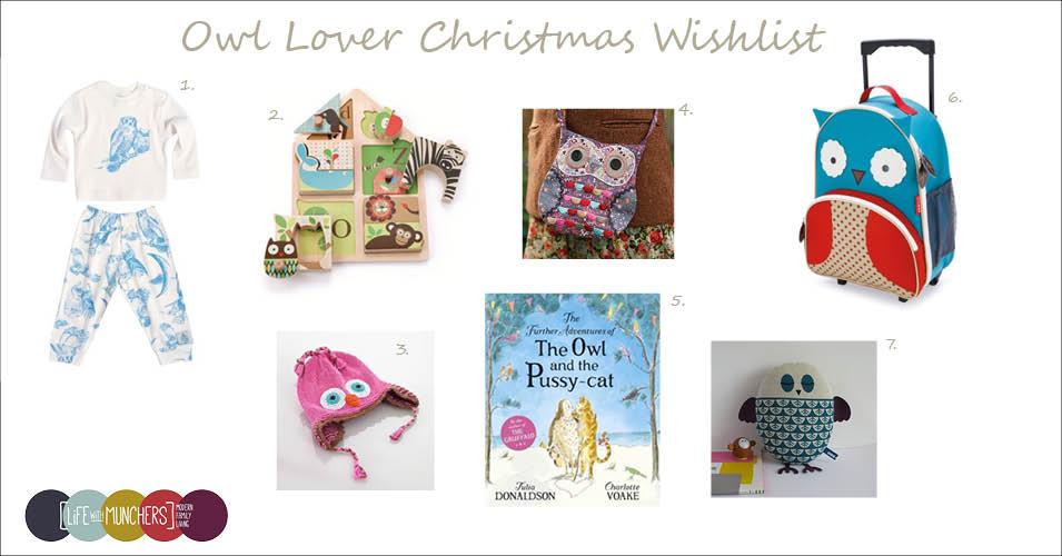Christmas Wishlist – Owl Lover