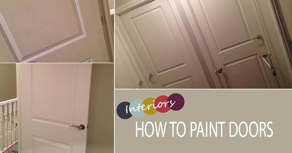 how to paint panel doors