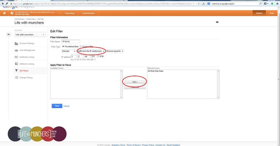 Google Analytics IP restriction filter IP