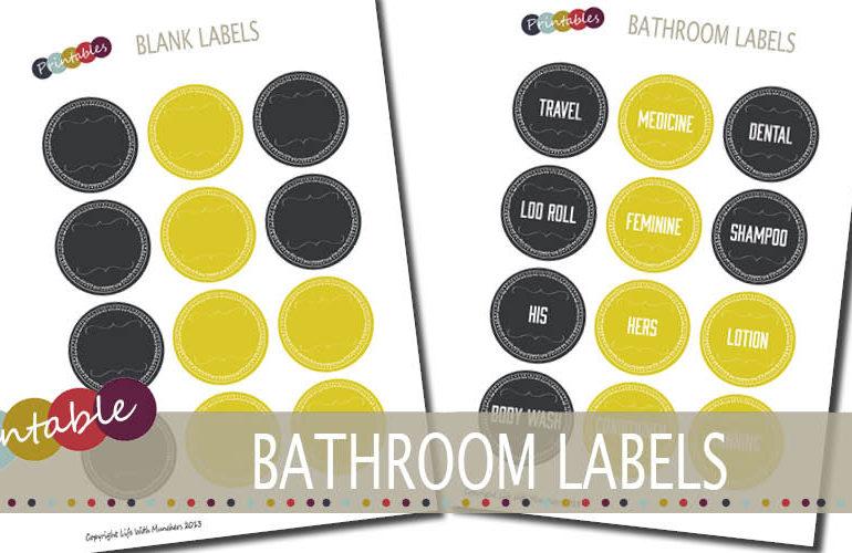 printable bathroom labels