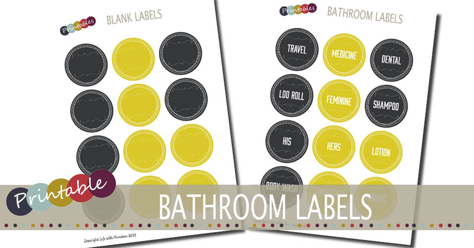 printable bathroom labels