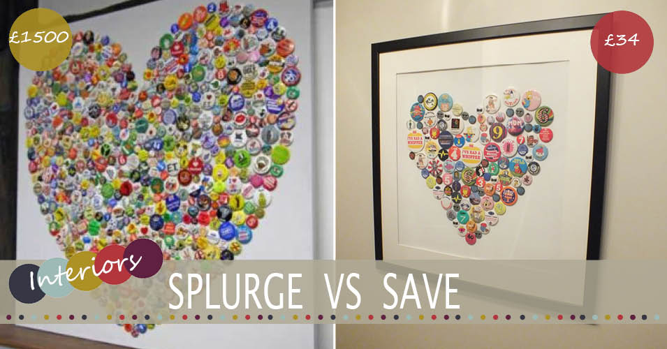 splurge vs save Brigitte Herrod badge art