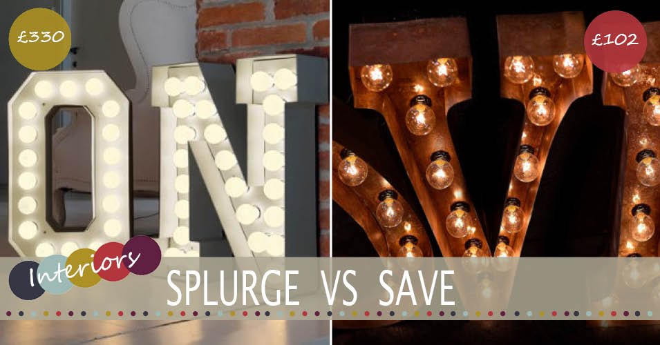 splurge vs save broadway lights