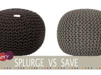 cheap knitted pouffe