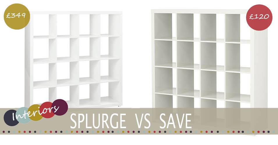 splurge vs save expedit shelving
