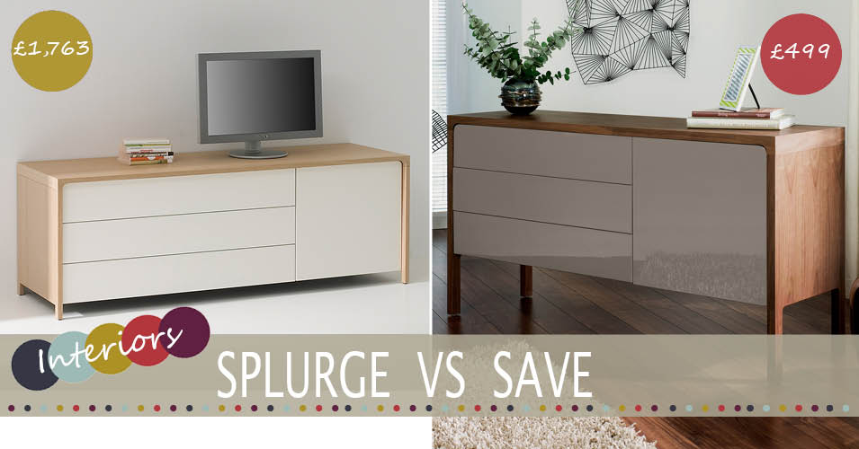 Splurge Vs Save The Modern High Gloss Sideboard Family Home Lifestyle Blog Life With