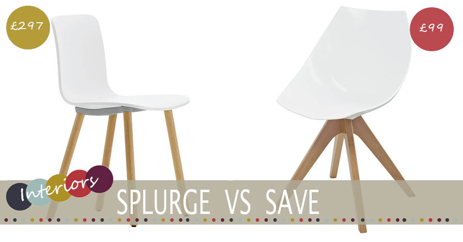 Splurge Vs Save | Modern White Dining Chair