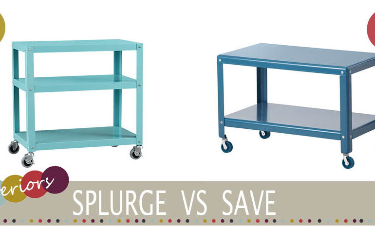 Cheap turquoise trolley