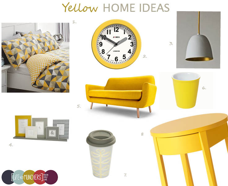 Shop The Trend | Yellow Home Decor