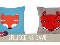 cheap fox cushion
