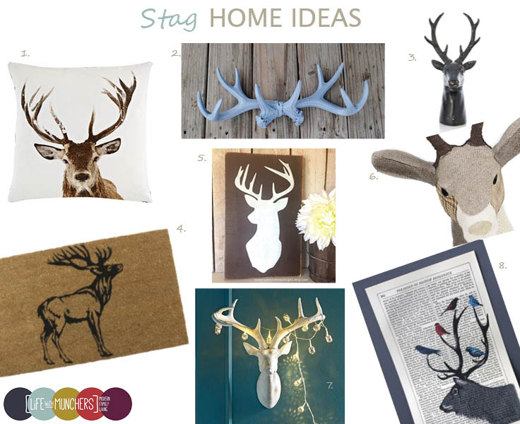 20 Lovely Decor Ideas For Adding Impact Above The Sofa: Stag Head Home Decor - Family, Home
