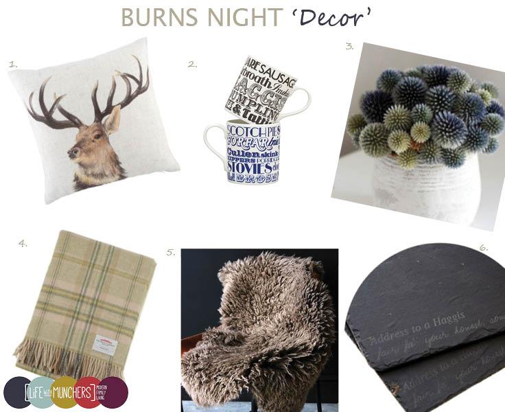 Burns Night Ideas Decor