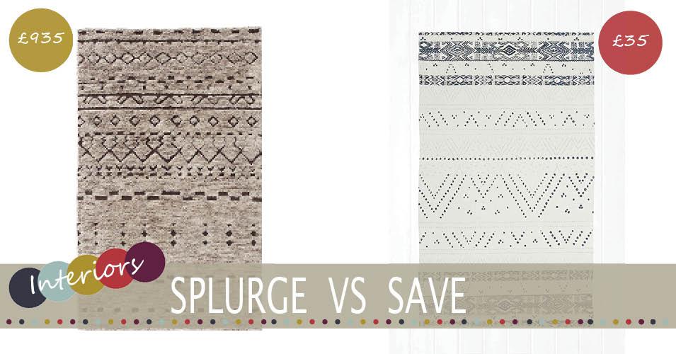 Splurge Vs Save | Berber Rug