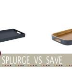 Cheap grey wooden tray