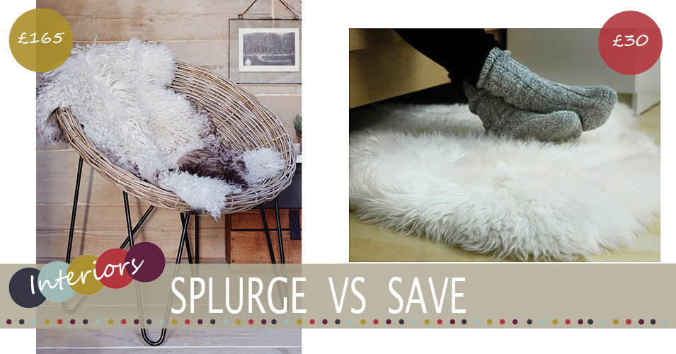 Splurge Vs Save | Sheepskin Rug