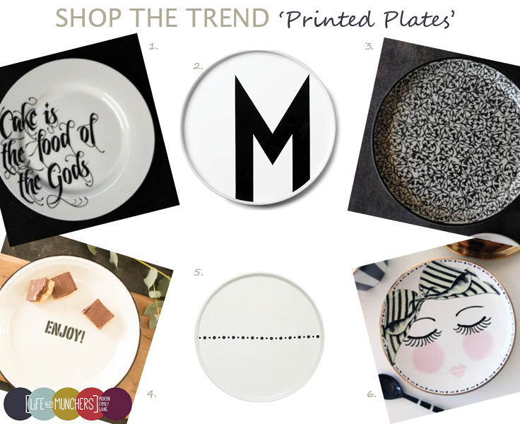 Shop The Trend | Printed Plates