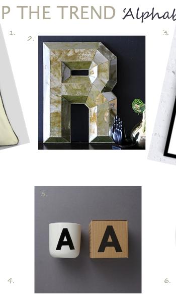 Alphabet trend decor