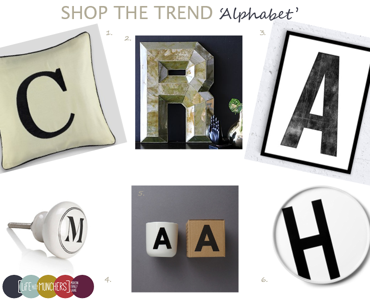 Alphabet trend decor