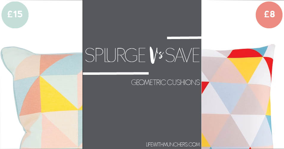 Splurge Vs Save | Geometric Cushions