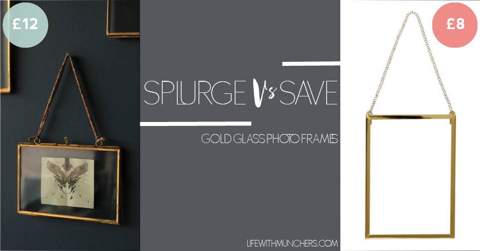 Splurge Vs Save | Gold Glass Photo Frame