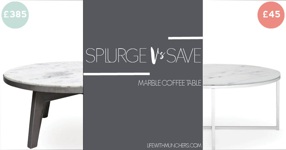 Splurge Vs Save | Marble Coffee Table