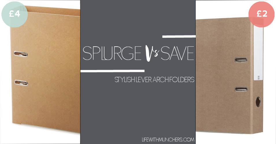 Splurge Vs Save | Lever Arch Folder