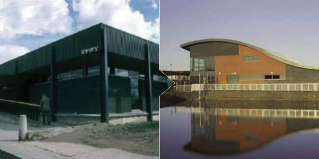 Larbert library mid 1980 and new modern library