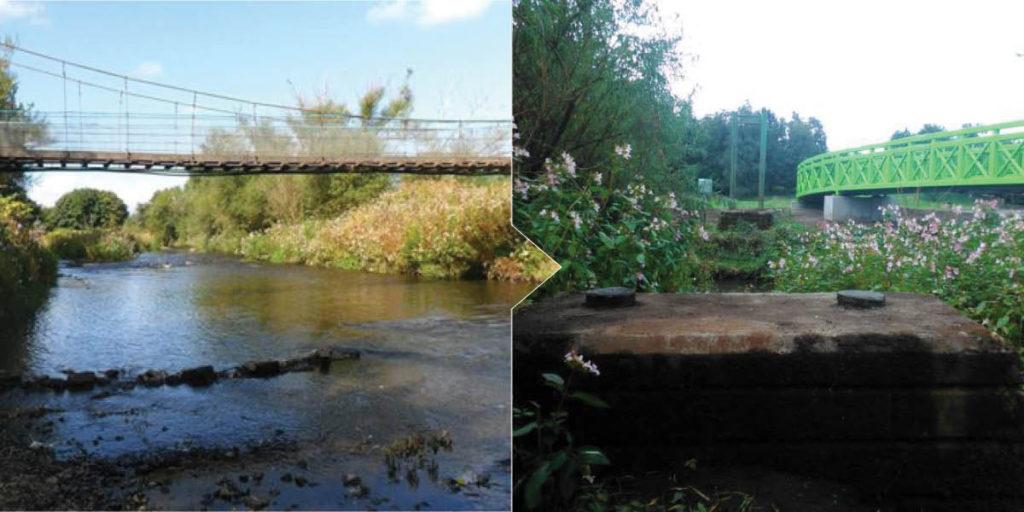 Swing bridge in Larbert