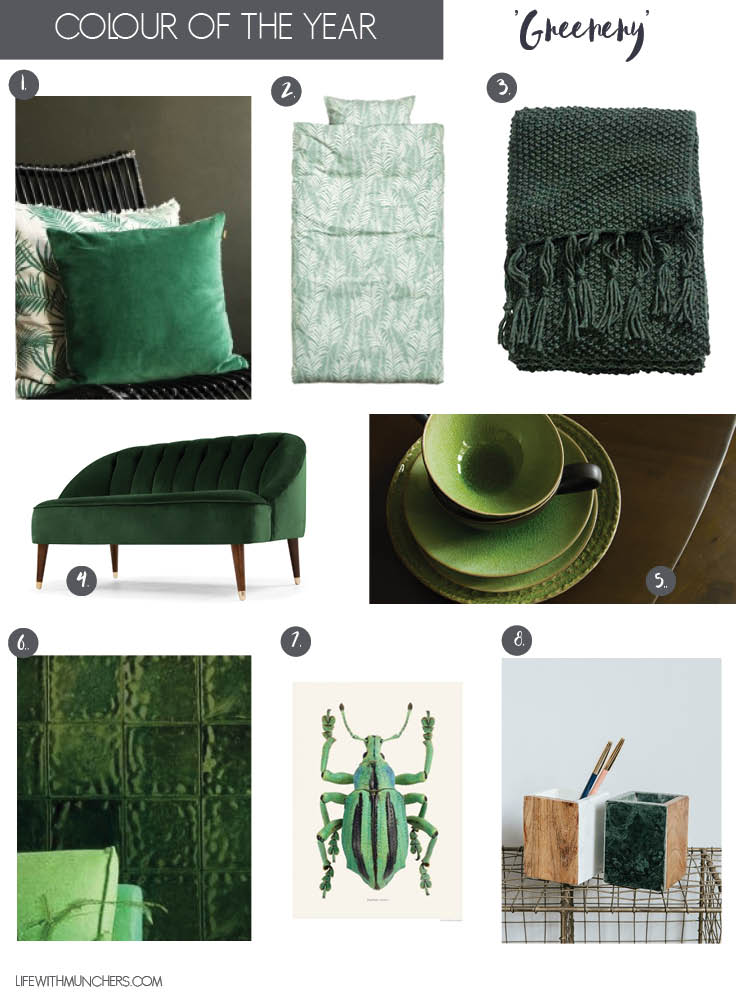 Pantone 2017 Greenery Home decor