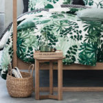 Natural Home Decor, leaf bedding, cork, marble and wicker finishes are all furniture and home accessories that complete this look