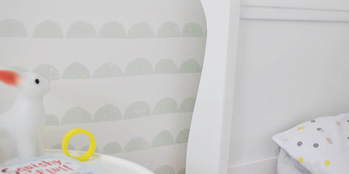 Scandi little girls bedroom