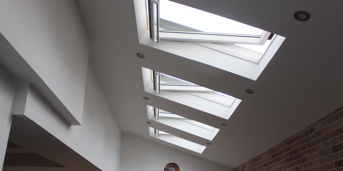 Velux windows Industrial kitchen makeover Bloggers homes july 17 what the redhead said