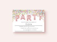 Free party invitation confetti styleFree party invitation confetti style