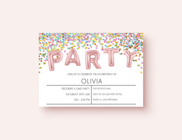 Free party invitation confetti styleFree party invitation confetti style