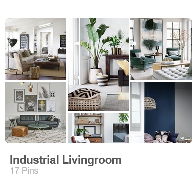 Industrial living room pinterest