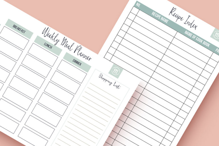 meal plan printable free