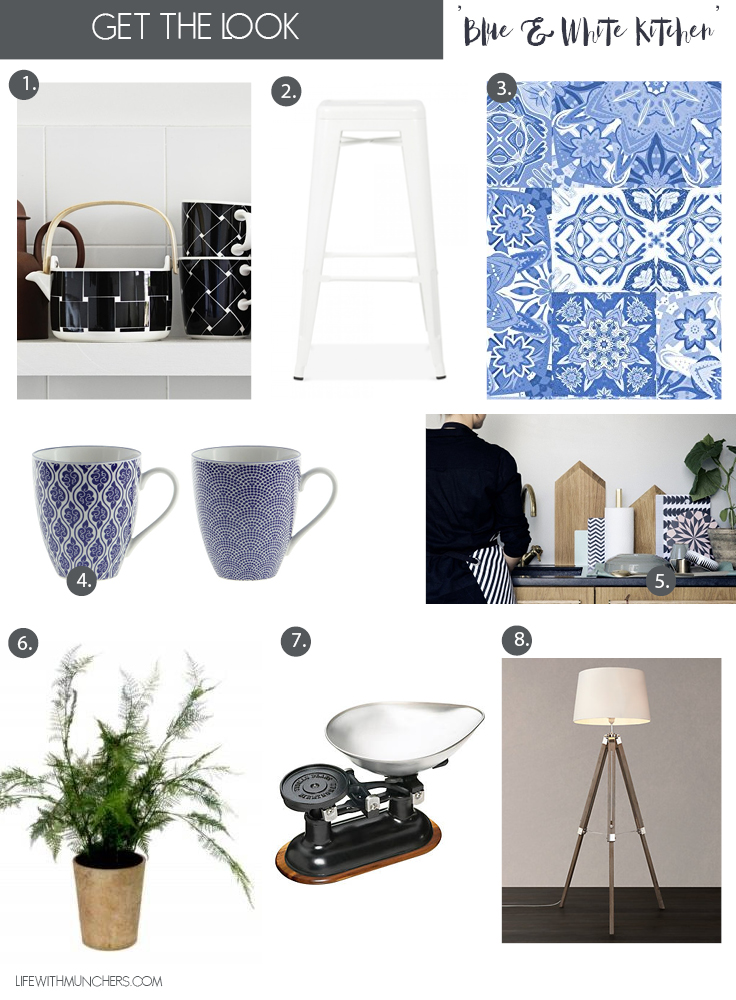 Blue and White Kitchen decor ideas