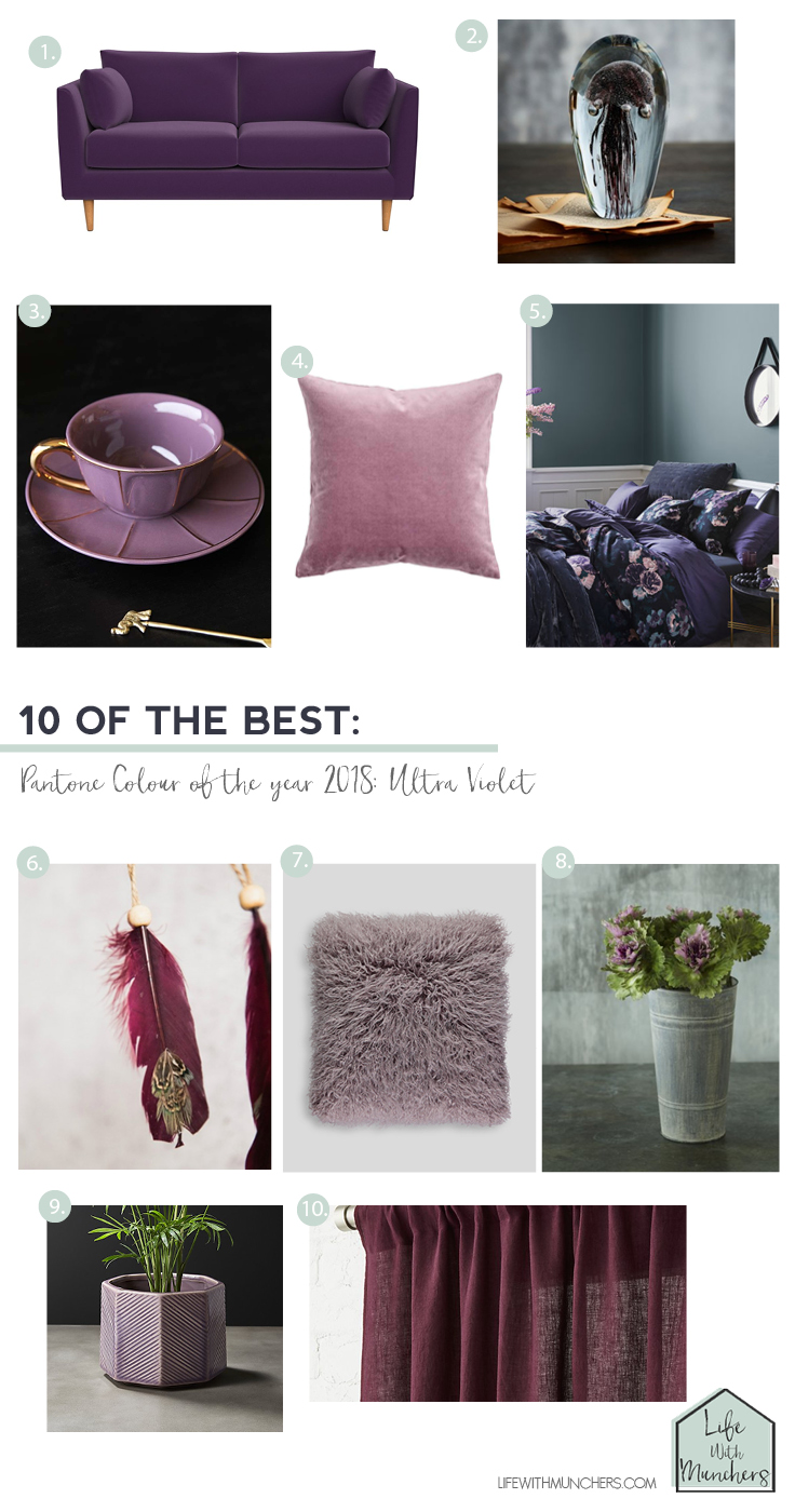 Ultra violet home decor pantone colour of the year