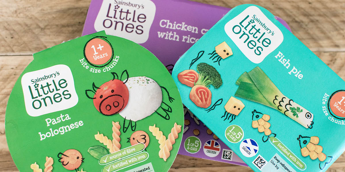 Sainsburys little ones range baby food